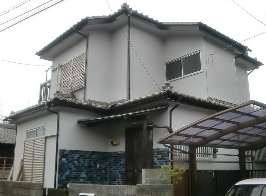 外壁塗装・下屋根塗装工事 After