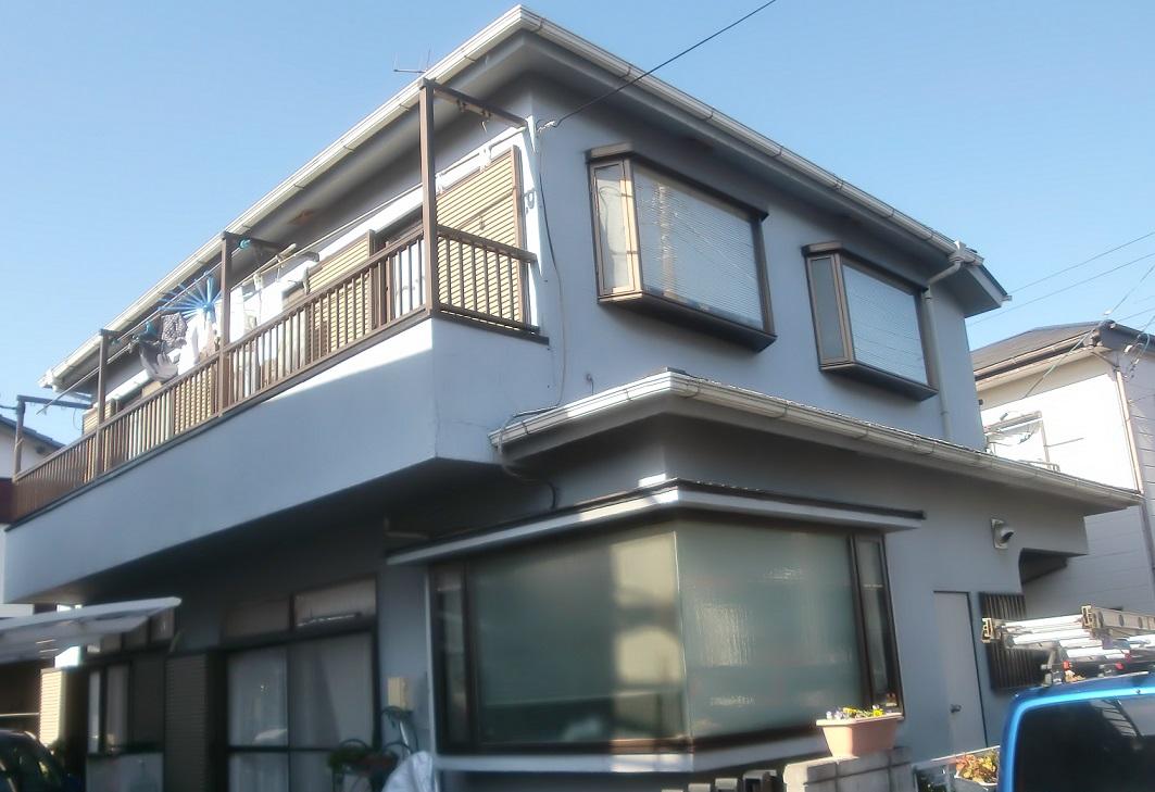 外壁塗装・屋根重葺き・ベランダ防水工事 Before
